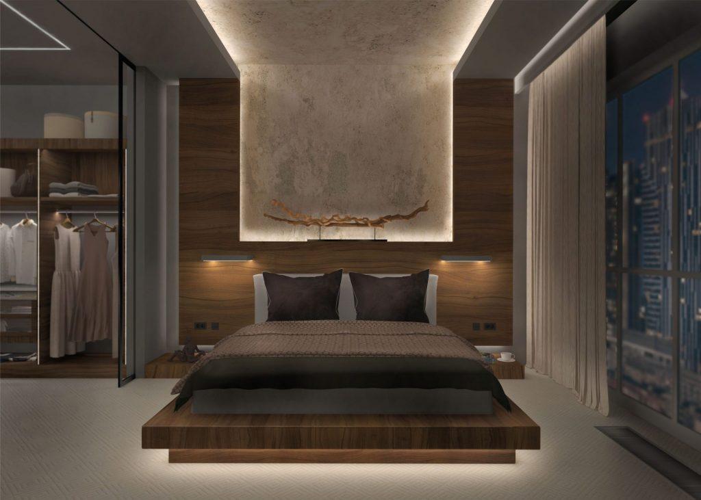 Ruban et profilé LED dans une chambre par Luxylum